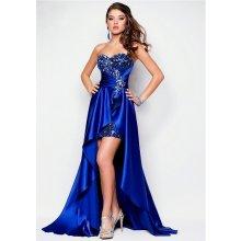 Luxusní společenské šaty 37301-3 modrá