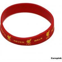 CurePink Silikonový náramek FC Liverpool červený 324830