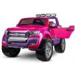 Dimix elektrické autíčko Ford Ranger 4x4 růžové 4 motory R/C 24GHz EVA kola kůže