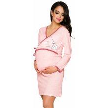 Taro mateřská noční košile Anne světle růžová