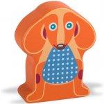 O-OOPS Easy-Sound Dřevěné chrastítko Dog Happy Pes