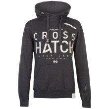 Crosshatch Milestone Right Zip Hoody Mens Charcoal Marl