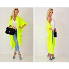 b686cb98ac72 Fashionweek Luxusní pletený maxi cardigan RAINBOW SV052 žlutý neon