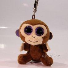 Přívěsek na klíče plyšová opice Coconut s velkýma očima 9cm 60d98fdfcf3