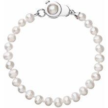 Evolution Group perlový náramek z pravých říčních perel bílý 23006.1