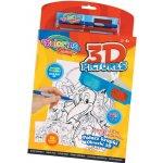 3D omalovánky 24 obrázků