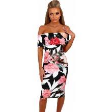 Dámské šaty s květinovým potiskem černá f0f4f36f145