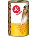 JK Animals masová konzerva pro psy s kuřecím a krůtím masem 1230 g