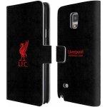 Pouzdro HEAD CASE Samsung Galaxy Note 4 LIVERPOOL FC OFICIÁLNÍ ZNAK červená na černé