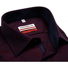 Marvelis Modern Fit – košile s červeno-modrým vetkaným vzorem a vnitřním  límcem - prodloužený a8f4d22500