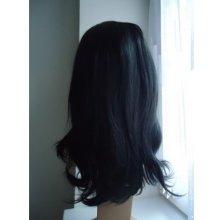 TMT Dámská paruka zvlněná 55 cm Černá