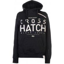 Crosshatch Milestone Right Zip Hoody Mens Black