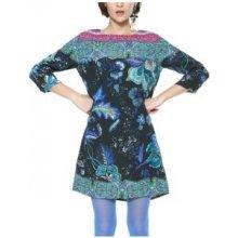 Desigual dámské šaty Vest Killpop 18WWVW93 2000 negro 7c392235051