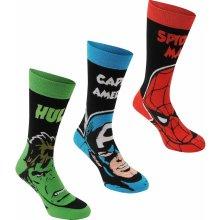 Marvel 3 Pack Crew Socks Child dětské ponožky