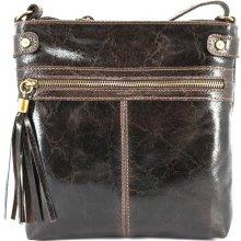 Arteddy dámská kožená kabelka crossbody tmavě hnědá baff87e47f2