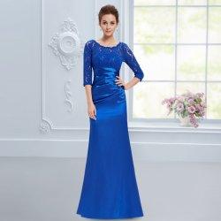 Dlouhé pouzdrové šaty s rukávem elegantní modrá. Zeštíhlující elegantní společenské  plesové ... 854885a104