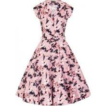 6e448a0291d3 Lady Vintage dámské retro šaty Florence růžový Ibišek