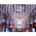 Vánoční světelná záclona bílá FL202/24V