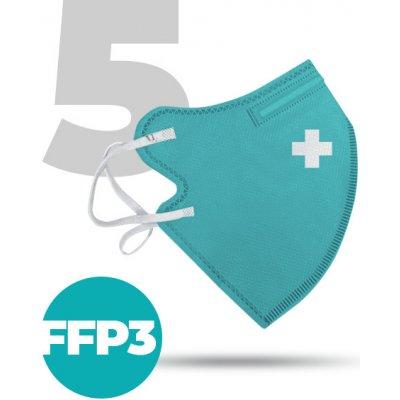 Nanolab Nano respirátor FFP3 modrý 5 ks