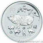 lunární série Investiční stříbrná mince rok Vepře 2019 II.