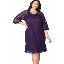 Dámské společenské šaty krajkové fialová 2f6831cdce
