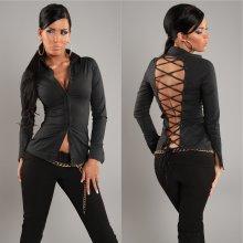 Koucla košile se šněrováním na zádech černá 6bb7d6f200