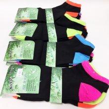 12 párů dámských bambusových ponožek