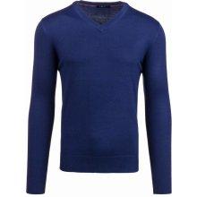 Tmavě modrý pánský svetr s výstřihem do V Bolf 896