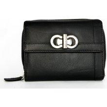 Kožená peněženka HMT černá