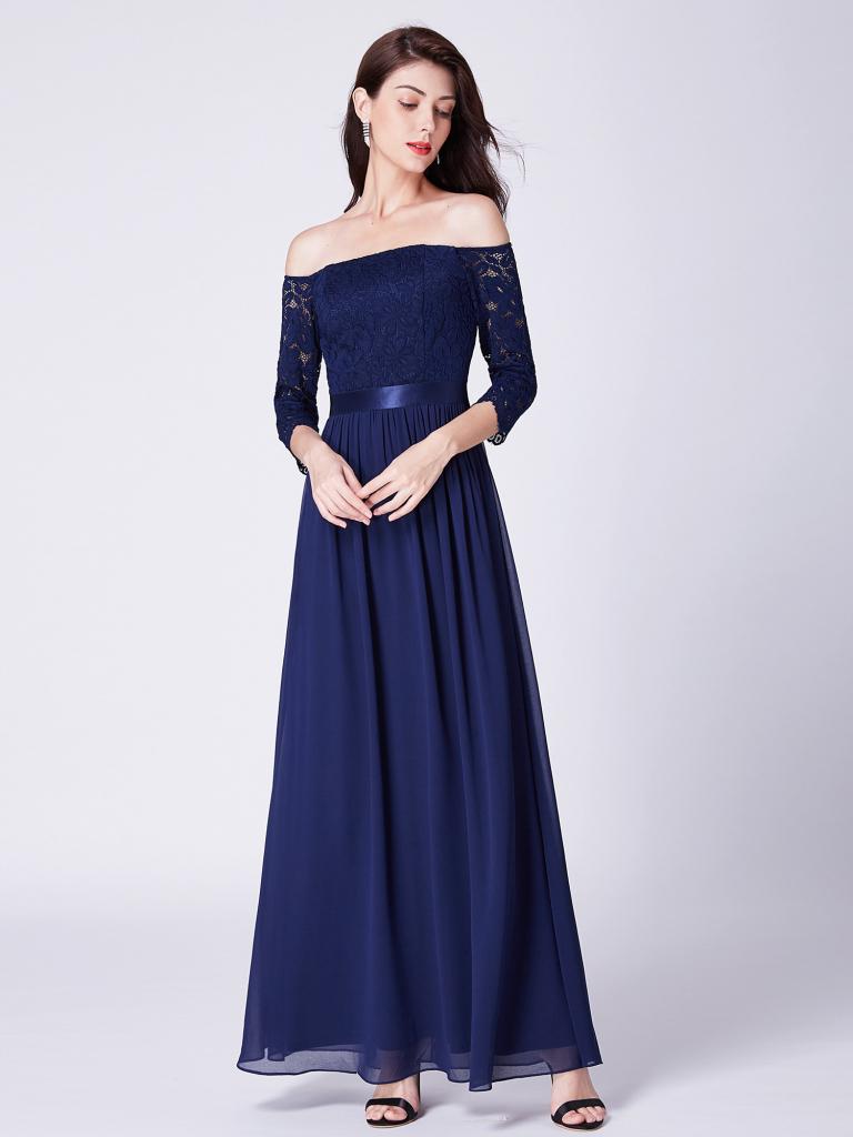 Plesové šaty Ever-Pretty elegantní dlouhé šaty 7478 - Seznamzboží.cz 22547ab3eb