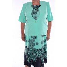 Dámsky kostým (trojkomplet) zeleno-modrý
