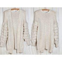 Fashionweek Dámský luxusní pletený svetr super rukávy BUBBLE ITALY 4632b281d2