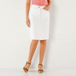 Blancheporte dámská džínová sukně s rozparkem bílá alternativy ... 87c5799b65