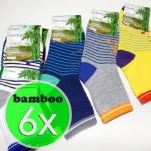 b60243350ee 6 párů dětské bambusové ponožky mix barev (bamboo 95%)