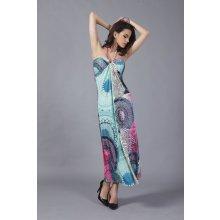 LM moda letní šaty vzorované za zavázání DL456 86b321ad3e