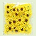 Slunečnice umělá přízdoba 48ks/3cm žlutá