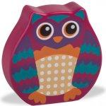 O-OOPS Easy-Sound Dřevěné chrastítko Owl Mr Wu Sova