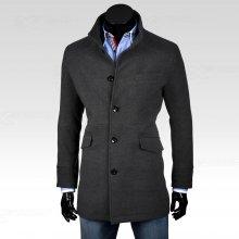 Ombre Clothing kabát Victor světle šedý