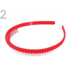 Stoklasa Plastová čelenka s hřebínkem - 2 červená