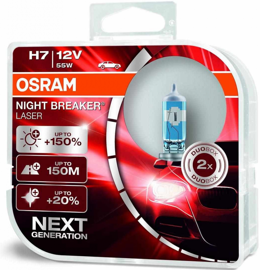 Osram Night Breaker Laser H7 PX26D 12V 55W 2ks 64210NL-HCB