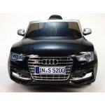 ChuChu Elektrické autíčko Audi S5 s 2,4 Ghz DO lakovaná černá metalíza