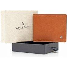 Castelijn & Beerens Pánská kožená peněženka v dárkové krabičce 804192 koňak