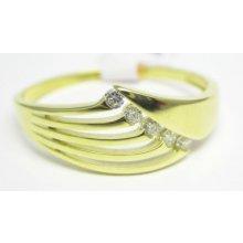 e09dcca64 Luxusní mohutný prsten ze žlutého zlata se zirkony
