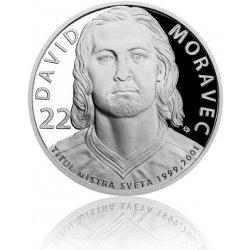 Česká mincovna Stříbrná mince Legendy čs. hokeje David Moravec proof 29 g