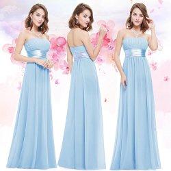 102d7270e077 Dlouhé šaty bez ramínek i pro těhotné světle modrá