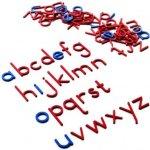 Montessori L035 Malá pohyblivá abeceda, tiskací písmena modrá&červená