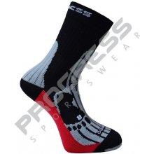 Progress P MRN 8MB merino outdoorové ponožky černá / šedá / červená
