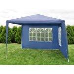 Zahradní párty stan - modrý 3 x 3 m + 2 boční stěny KK-652