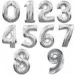 Balónek číslo stříbrné 2