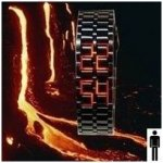 Iron Samurai lava metal/red Shim Watch BHISM21